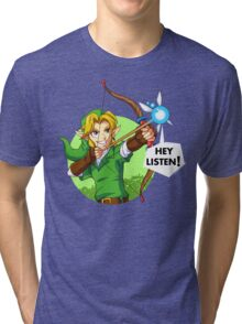 Zelda Fairy Bow  Tri-blend T-Shirt