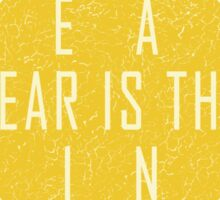 Dune - The Litany Against Fear Sticker