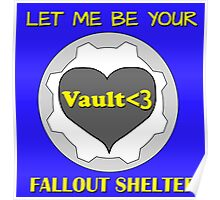 Gamer Romantic - Nuclear Fallout Shelter of Love Poster