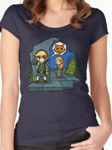 Zelda Wind Waker Meow Women's Fitted Scoop T-Shirt