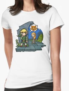 Zelda Wind Waker Meow Womens Fitted T-Shirt