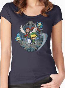 Zelda Wind Waker Earth Temple Women's Fitted Scoop T-Shirt