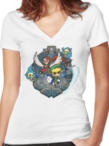 Zelda Wind Waker Earth Temple Women's Fitted V-Neck T-Shirt