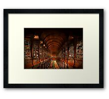 Library - The long room 1885 Framed Print