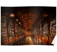 Library - The long room 1885 Poster