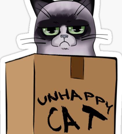 Unhappy Cat Sticker