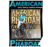 American Pharoah Horse Racing Triple Crown Winner Poster
