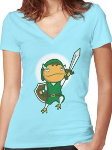 The Hero of Another World Women's Fitted V-Neck T-Shirt