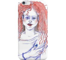Red Haired Girl iPhone Case/Skin