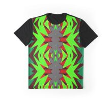 Hardcore Neon Green Star Burst NeoGeo Art Graphic T-Shirt