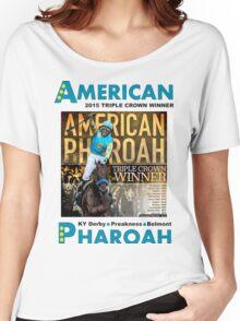 American Pharoah Horse Racing Triple Crown Winner Women's Relaxed Fit T-Shirt