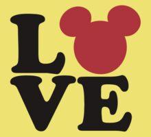 Love text silhouette Kids Tee