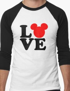 Love text silhouette Men's Baseball ¾ T-Shirt