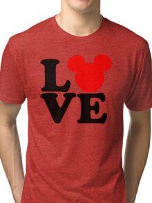 Love text silhouette Tri-blend T-Shirt