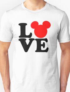 Love text silhouette Unisex T-Shirt