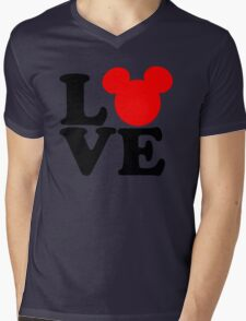 Love text silhouette Mens V-Neck T-Shirt