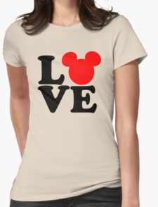 Love text silhouette Womens Fitted T-Shirt