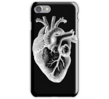 Anatomical Heart - White Outline iPhone Case/Skin