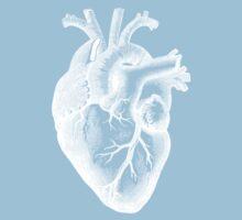 Anatomical Heart - White Outline Kids Tee