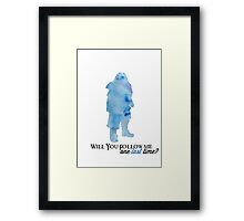 Will You Follow me, One Last Time? Framed Print
