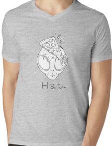Alien Pizza Hat (white Only) Mens V-Neck T-Shirt