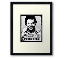 Pablo Escobar mugshot Framed Print
