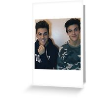 Dolan twins :D Greeting Card