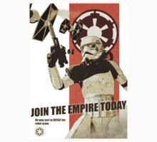Star Wars Empire Propaganda Poster by Kanyon Schumacher