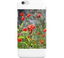 Poppies on bank of the Danube, Austria  iPhone Case/Skin