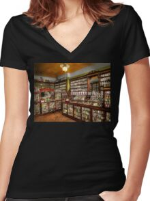 Pharmacy - The chemist shop of Mr Jones 1907 Women's Fitted V-Neck T-Shirt