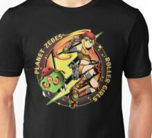 Planet Zebes Roller girls  Unisex T-Shirt