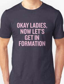 Okay Ladies, Now Let's Get In Formation. Unisex T-Shirt