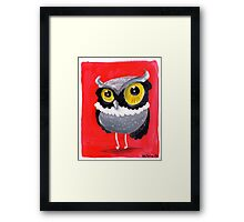 Hoot do you think you are? Framed Print