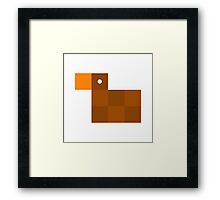 Pixel by pixel – Duck Framed Print