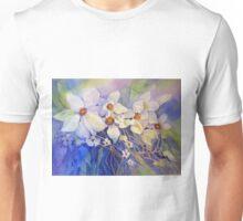 White Clematis Unisex T-Shirt