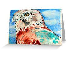 Brown Falcon Greeting Card