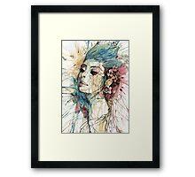 Natural Fashion // Lady Framed Print