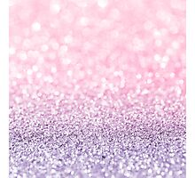 Pink and Lavender Glitter  Photographic Print