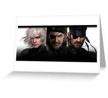 Metal Gear Trio  Greeting Card