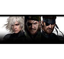 Metal Gear Trio  Photographic Print