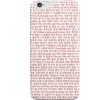 BTS N.O Lyrics Phone Case iPhone Case/Skin