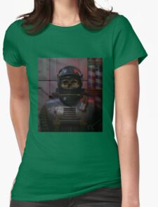 The atom astronaut (alternative) Womens Fitted T-Shirt