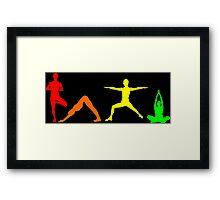 Yoga Multi Framed Print