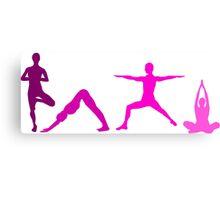 Yoga Pink Canvas Print