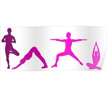 Yoga Pink Poster