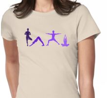 Yoga Purple Womens Fitted T-Shirt