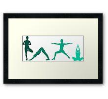 Yoga Blue Framed Print