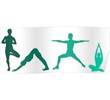 Yoga Blue Poster
