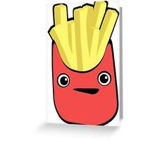 Kawaii French Fries Greeting Card