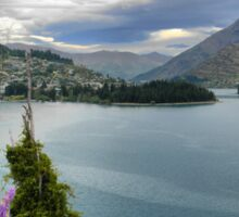 Queenstown on Wakatipu from the Glenorchy Rd Sticker